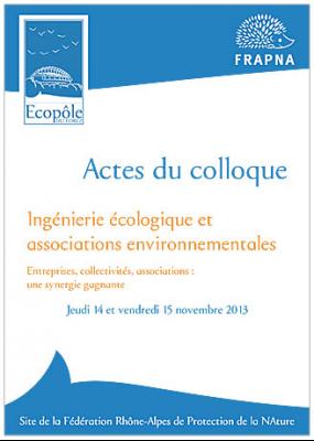 Actes du colloque Ingénierie écologique