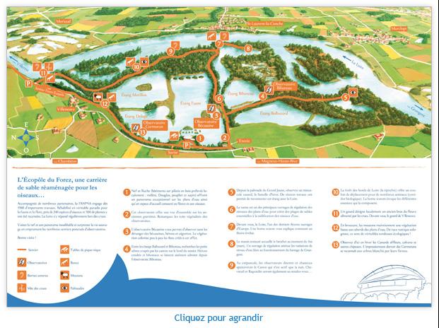 Plan de l'Ecopôle du Forez