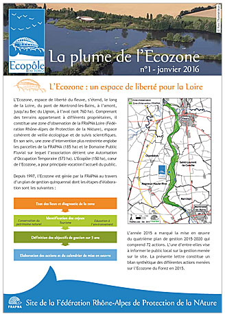Lettre d'info plume de l'Ecoozne 2016