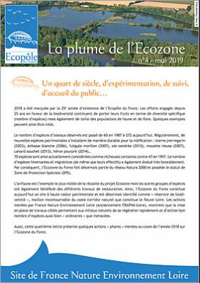 Lettre d'info La plume de l'Ecozone 2019